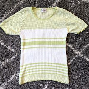 ⚡3/$30⚡La Fleur Vintage Knit T (fits size S/M)